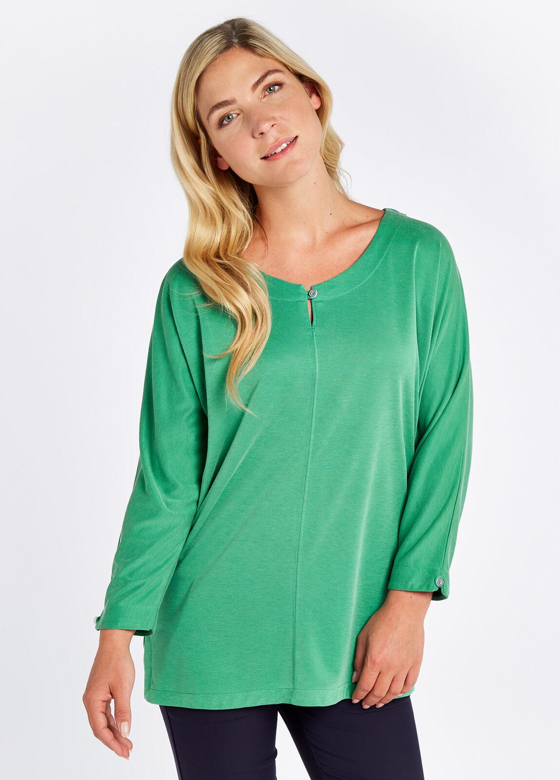 Mountlucas 3/4 sleeve Top - Kelly Green