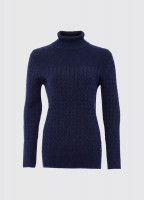 Boylan Polo Neck Sweater - French Navy