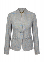 Jasmine Tailored Tweed Jacket - Shale