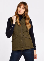 Clonmel Quilted Gilet - Olive