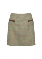 Clover Tweed Mini Skirt - Acorn