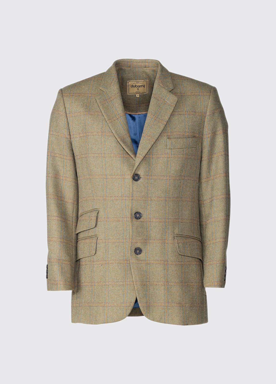 Gorse Regular Fit Tweed Jacket - Connacht Acorn