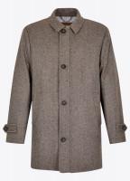Kingham Tweed Coat - Elk