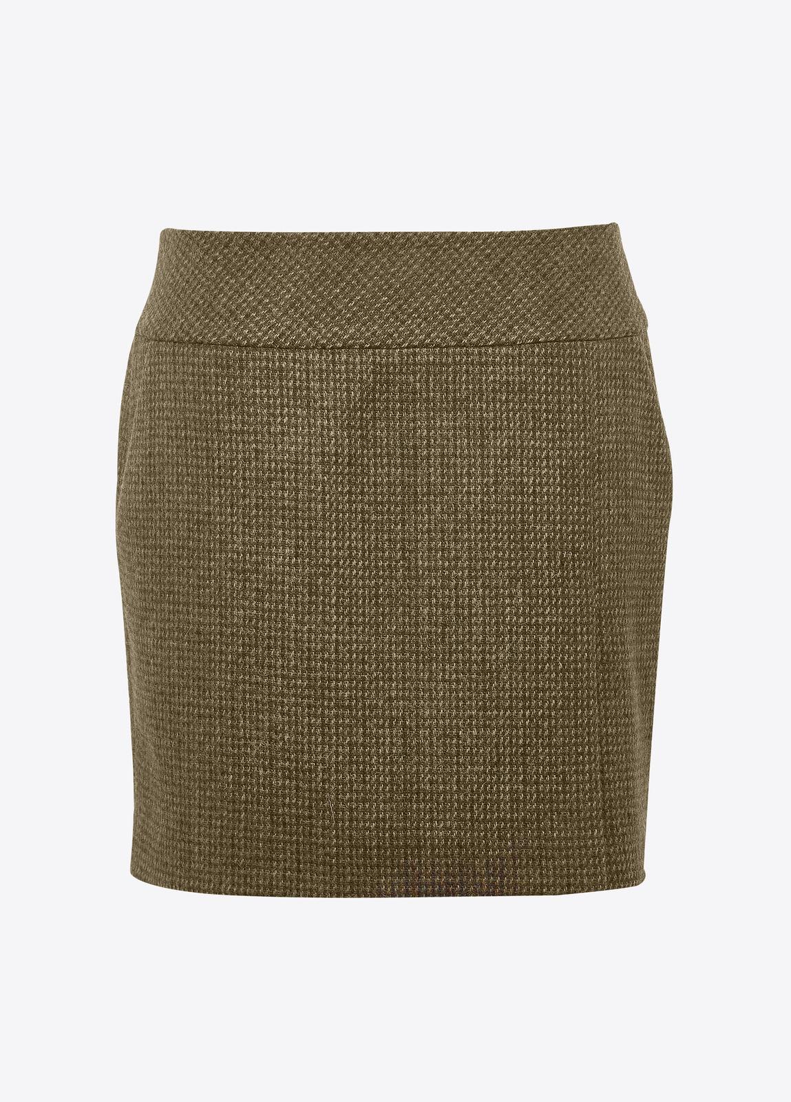 Bellflower Tweed Skirt - Heath