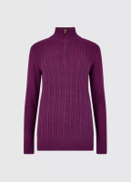 Garvey Knitted Sweater - Berry