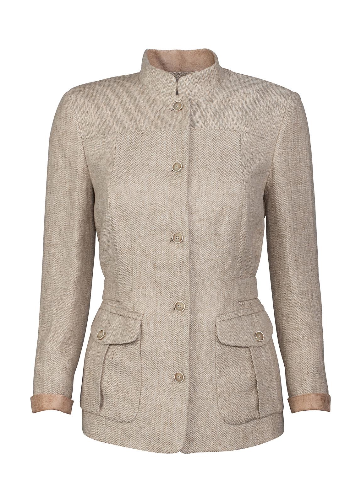 Dubarry_ Malahide Women's Linen Jacket - Oatmeal_Image_2