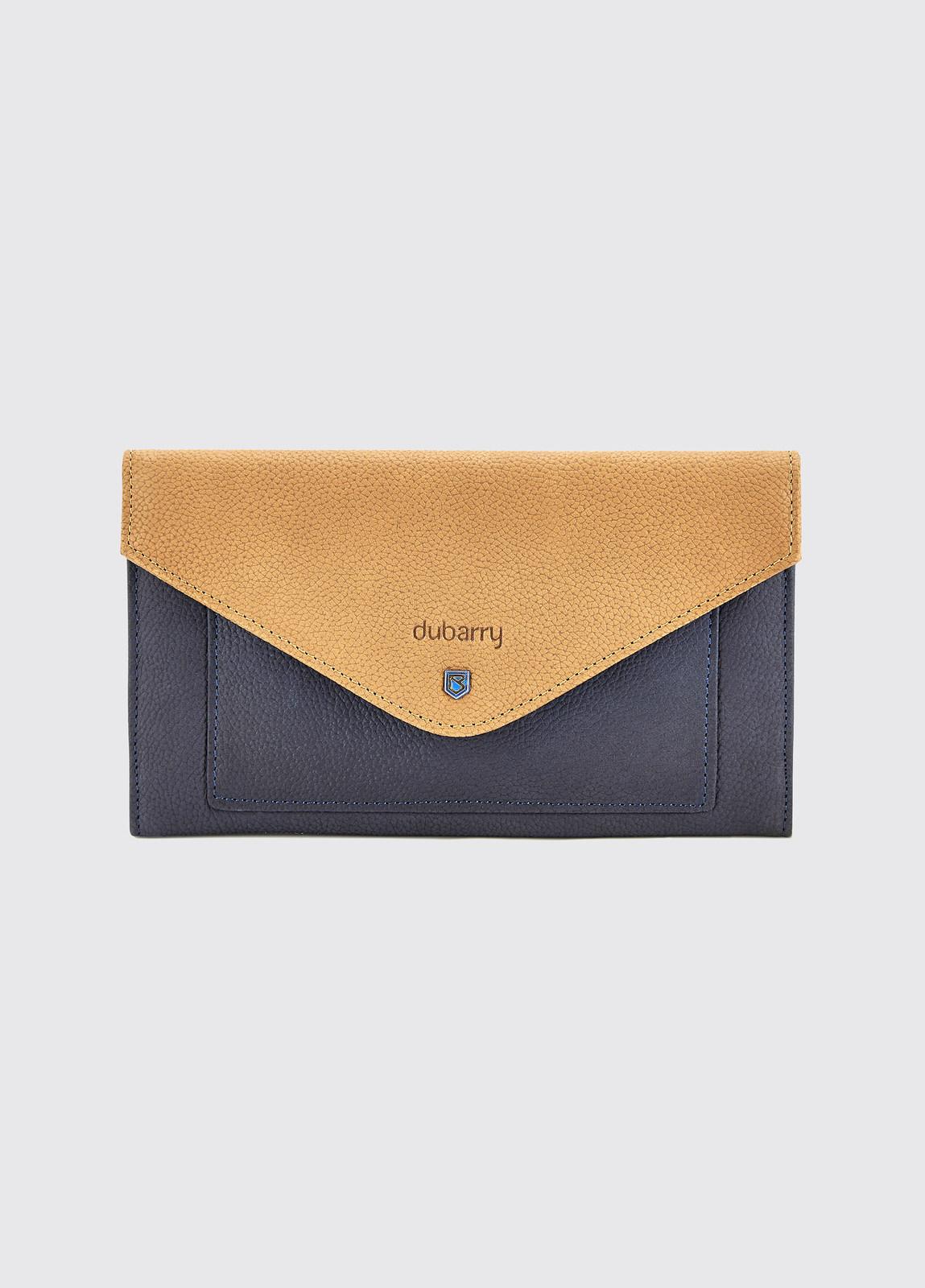 Athlone Wallet - Navy/Tan