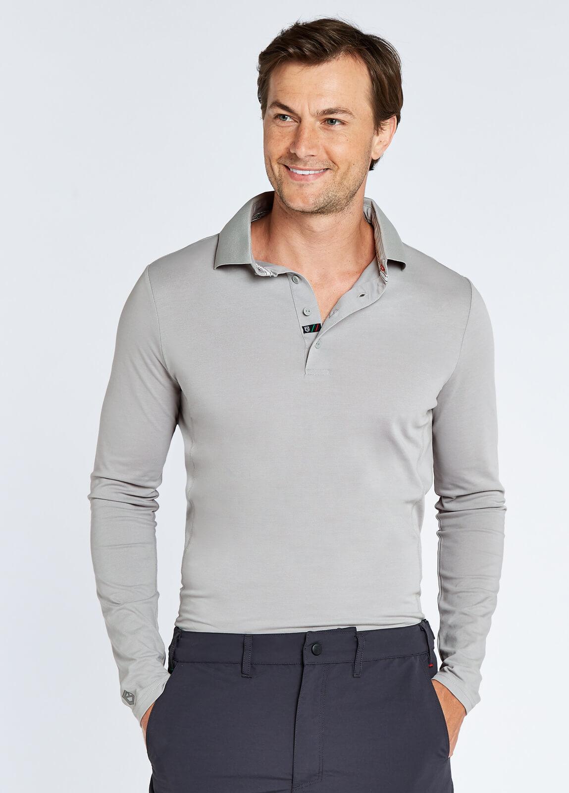 Freshford Unisex Long-sleeved Polo - Platinum