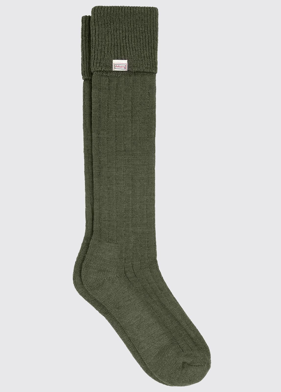 Alpaca Socks - Olive