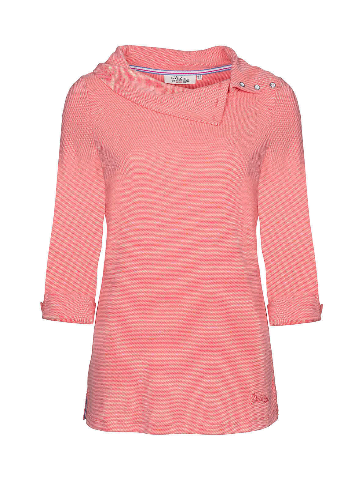Dubarry_Malbay Three-quater sleeve top - Coral_Image_2
