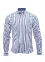 Kinvara striped shirt - Navy/Bordo