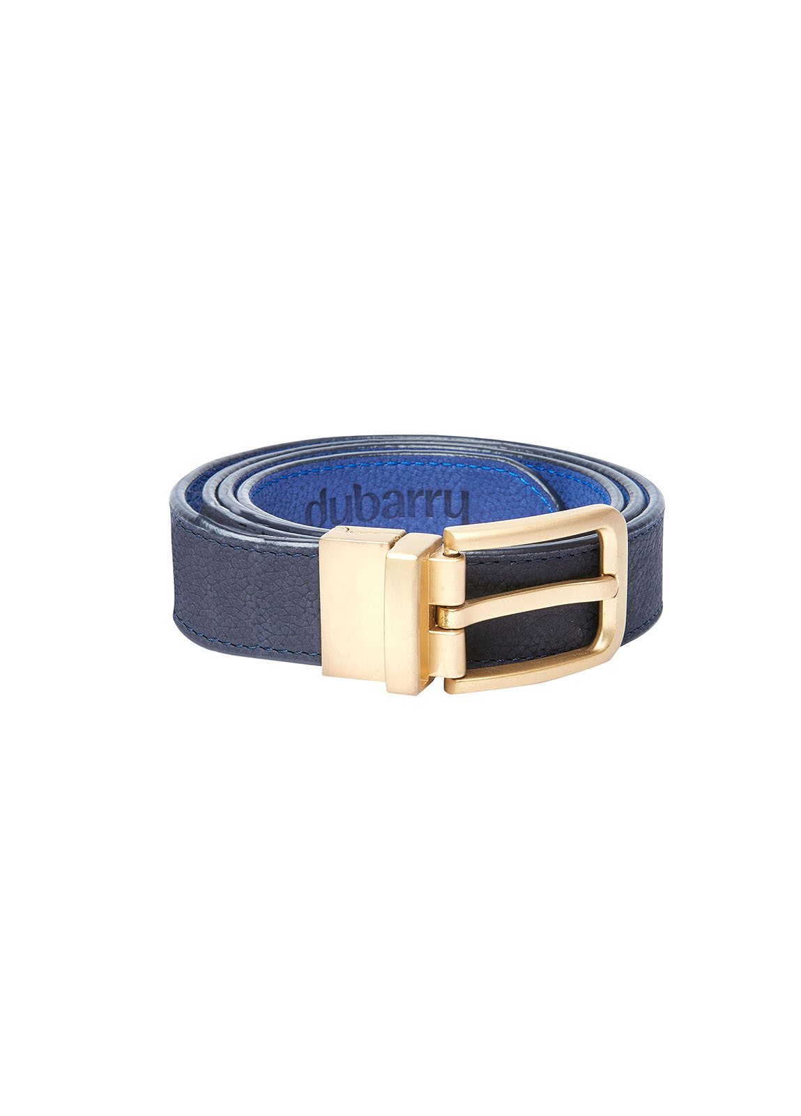 Foynes Leather Belt - Navy