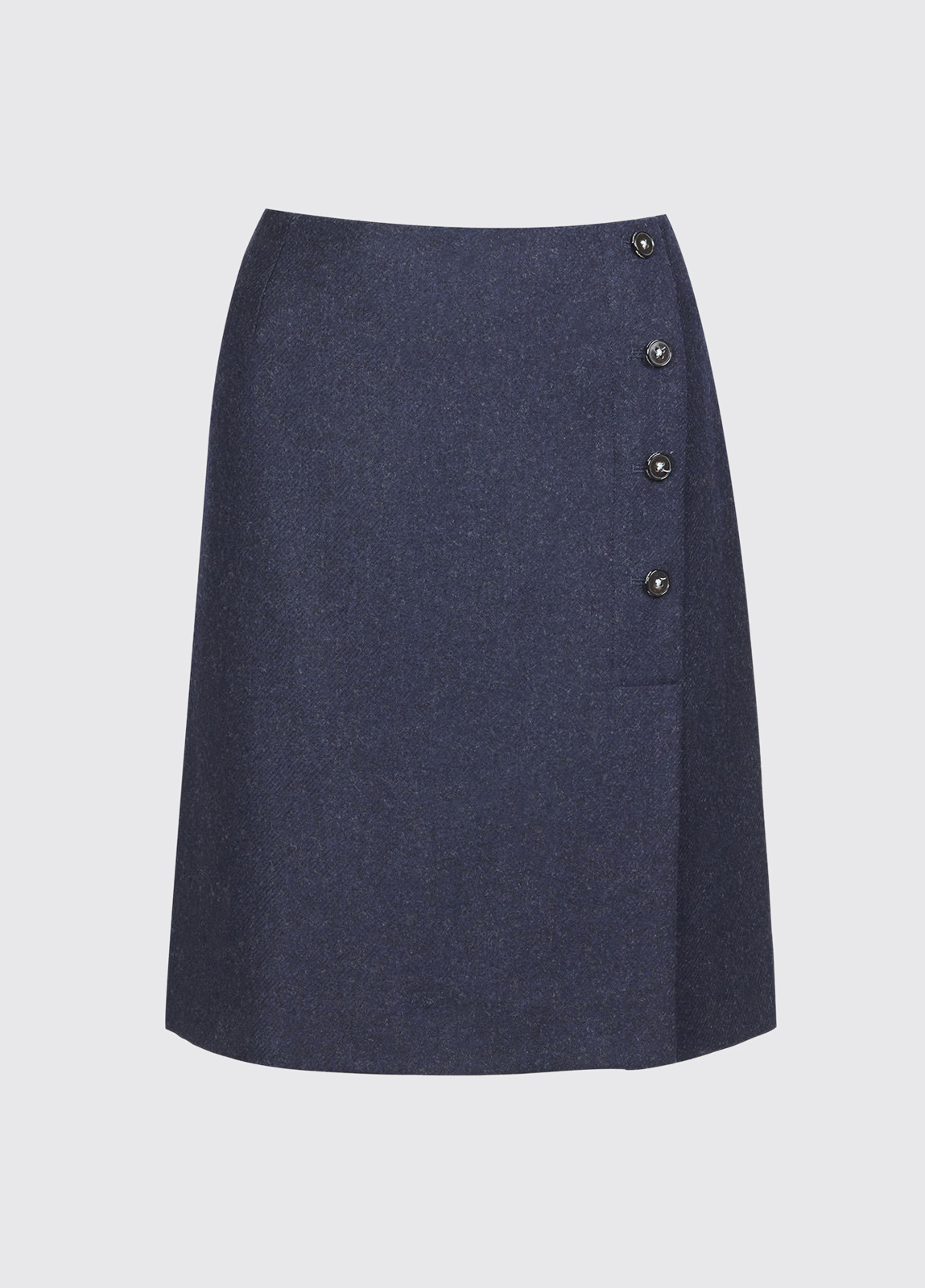 Marjoram Slim Tweed Skirt - Navy