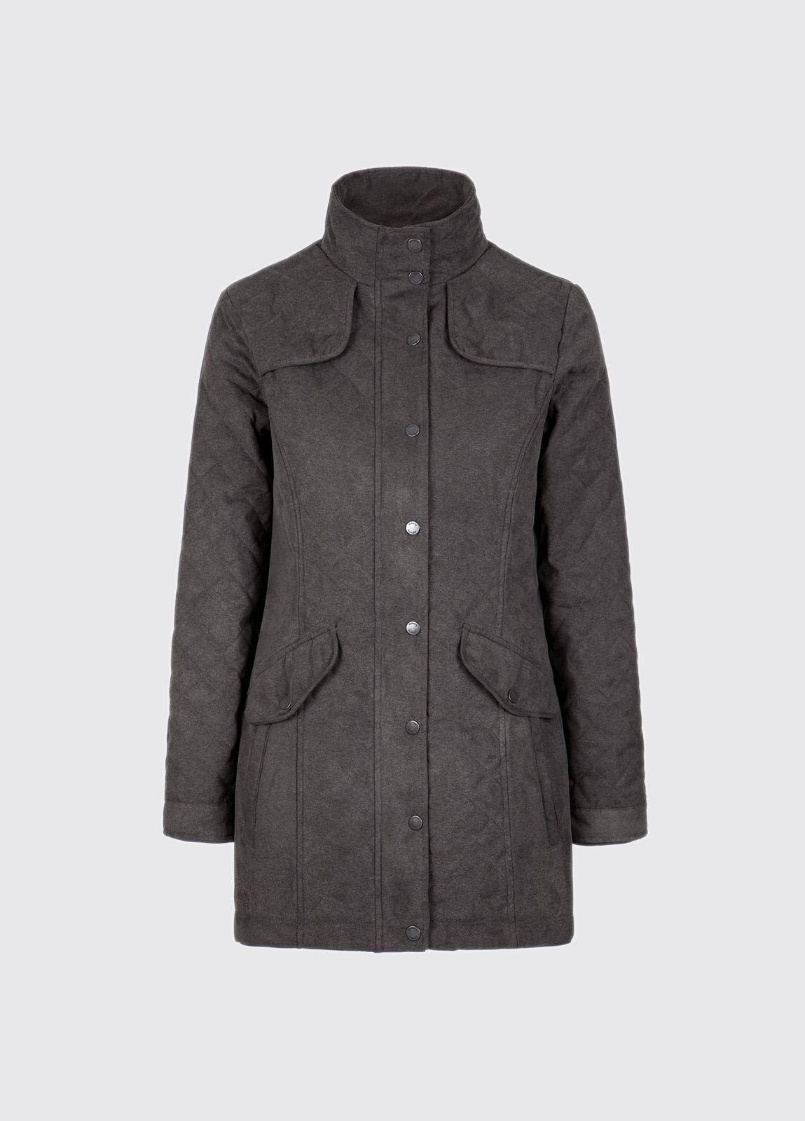 Kanturk Womens Quilted Coat - Graphite