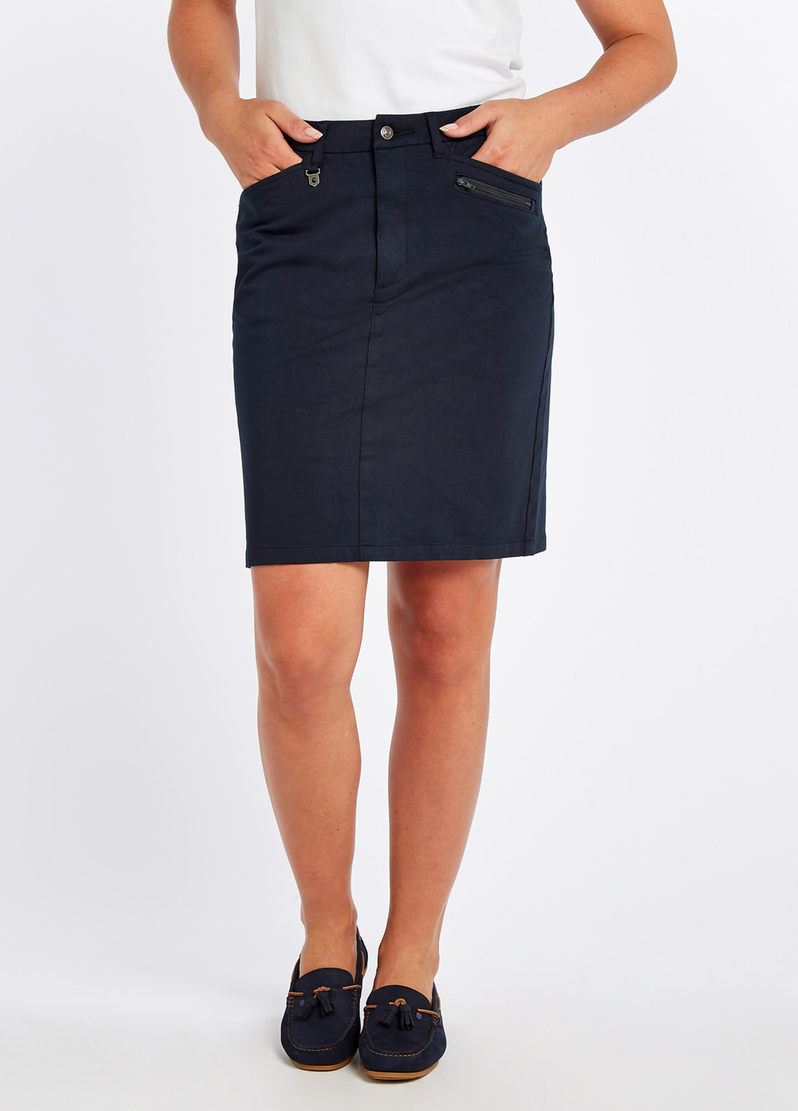Dubarry_Mallow_Skirt_Navy_on_model