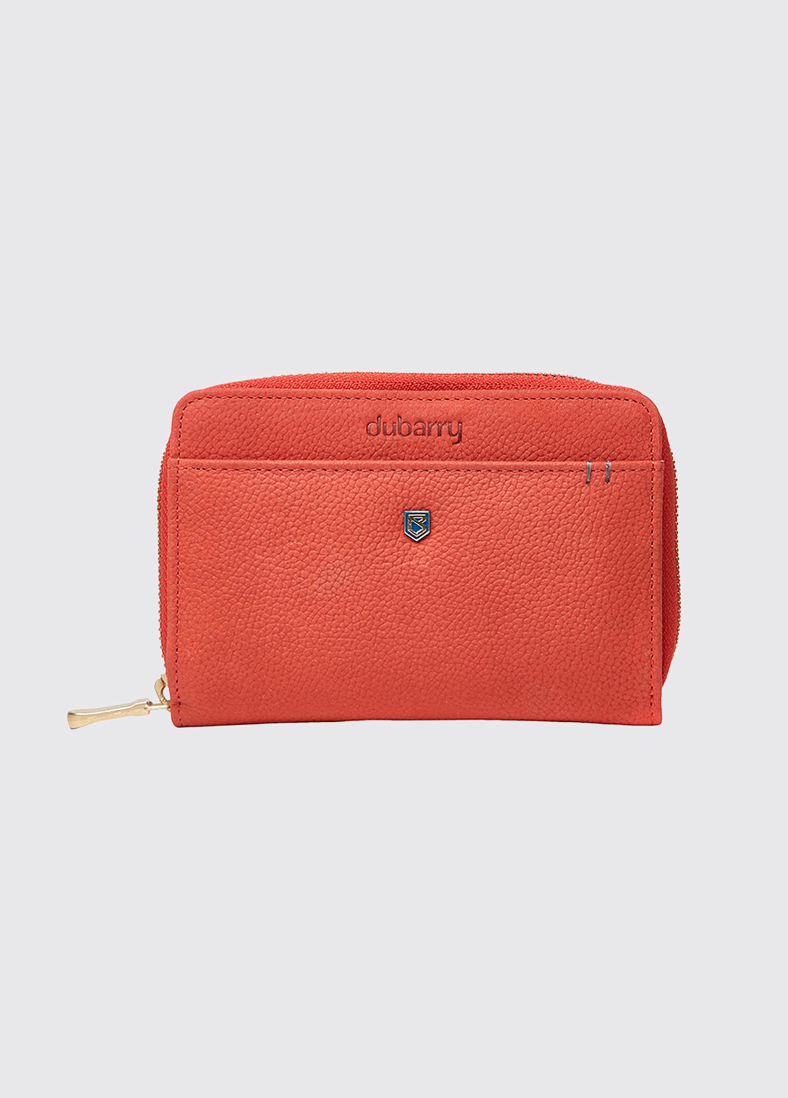 Portrush Leather Wallet - Coral