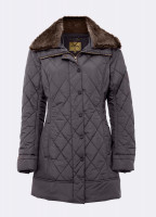 Kenmare Quilted Coat - Smoke