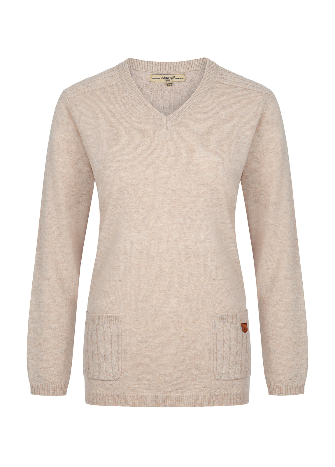Dubarry_ Flaherty Ladies Knitted Lambswool Jumper - Oatmeal_Image_2