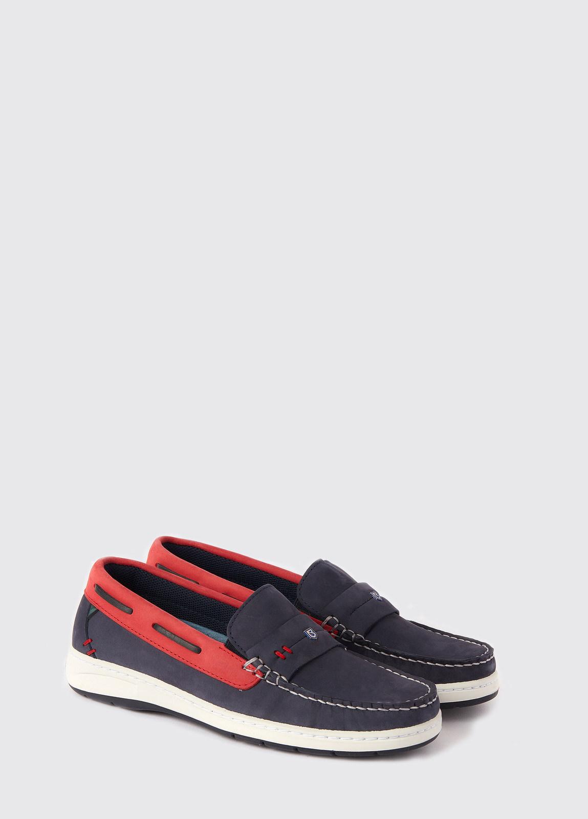 Havana Deck shoes - Denim/Red