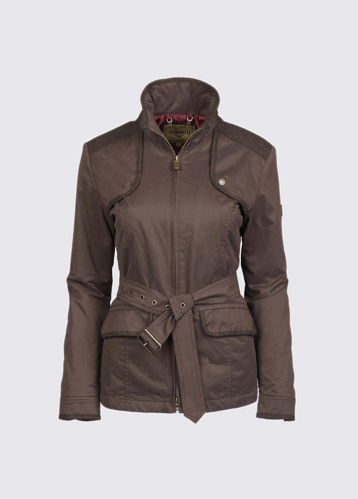Enright Belted Jacket - Bourbon
