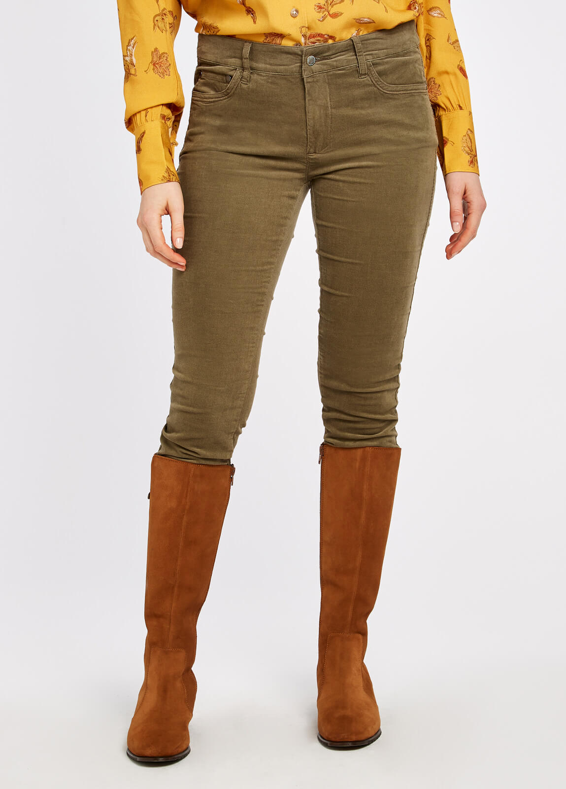 Honeysuckle Jeans - Dusky Green