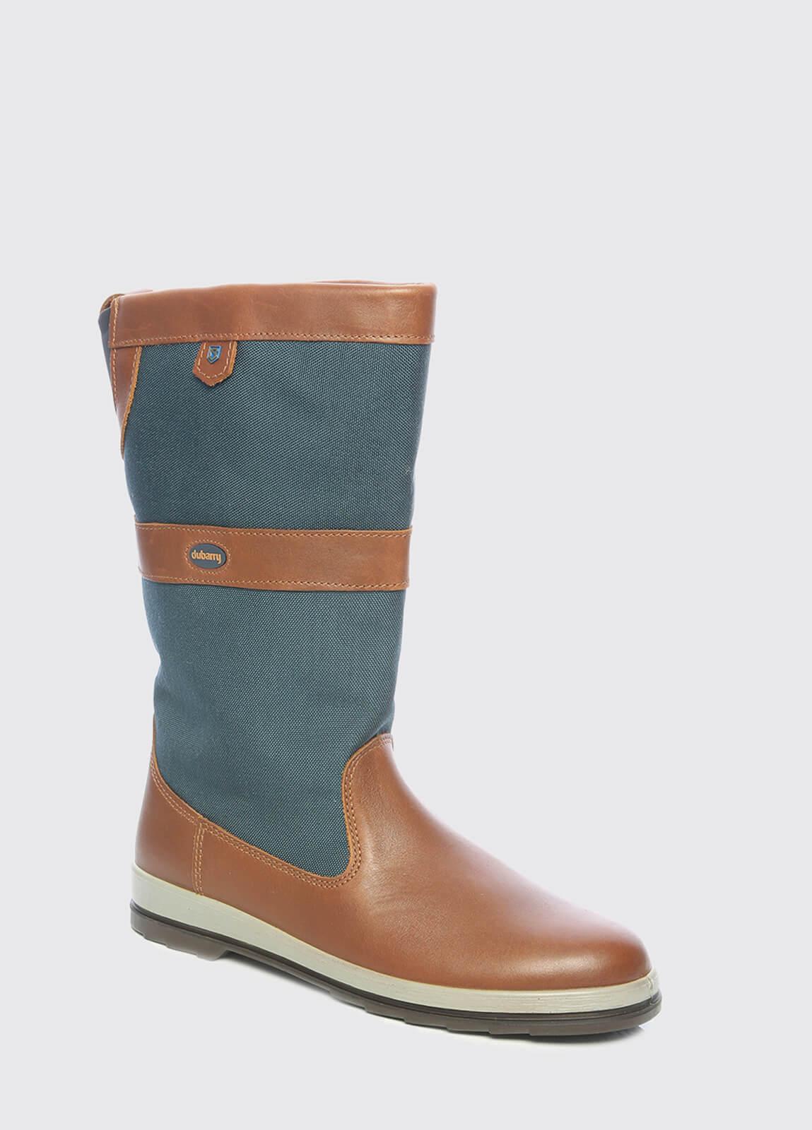Shamrock Sailing Boots - Navy/Brown