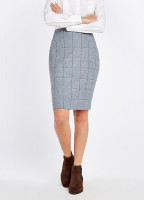 Fern Tweed Skirt - Blue Heather
