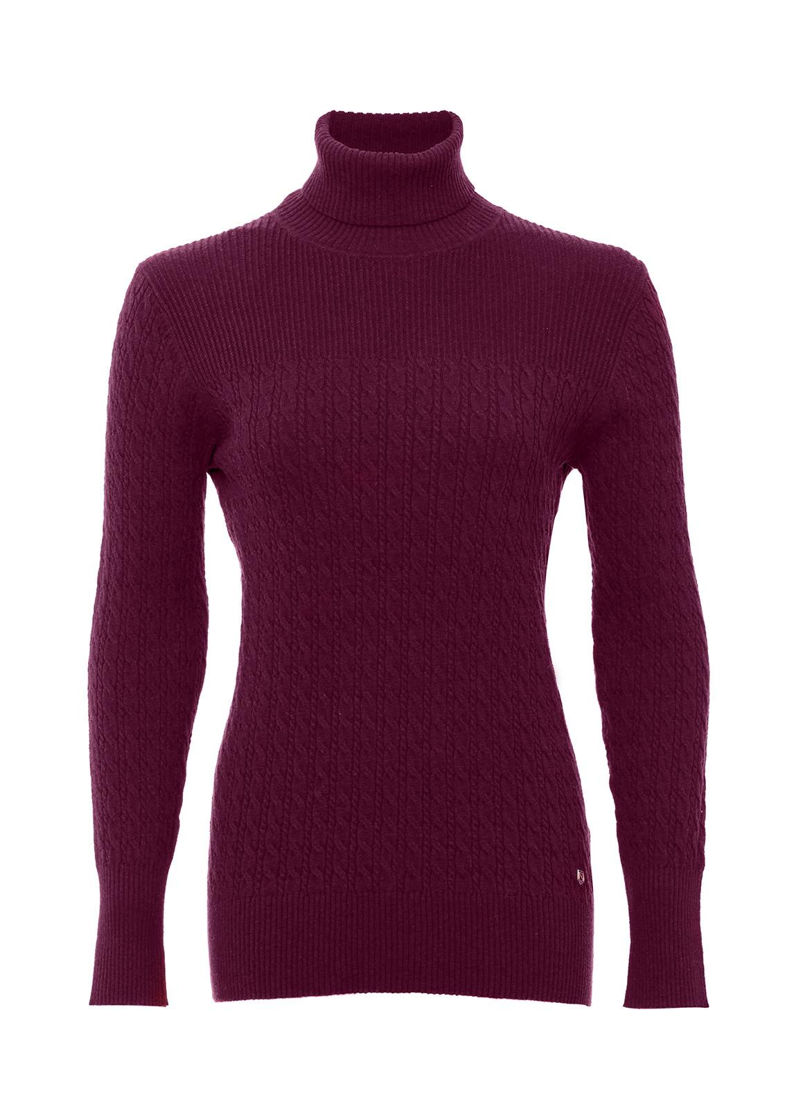 Dubarry_ Boylan Polo Neck Sweater - Malbec_Image_2