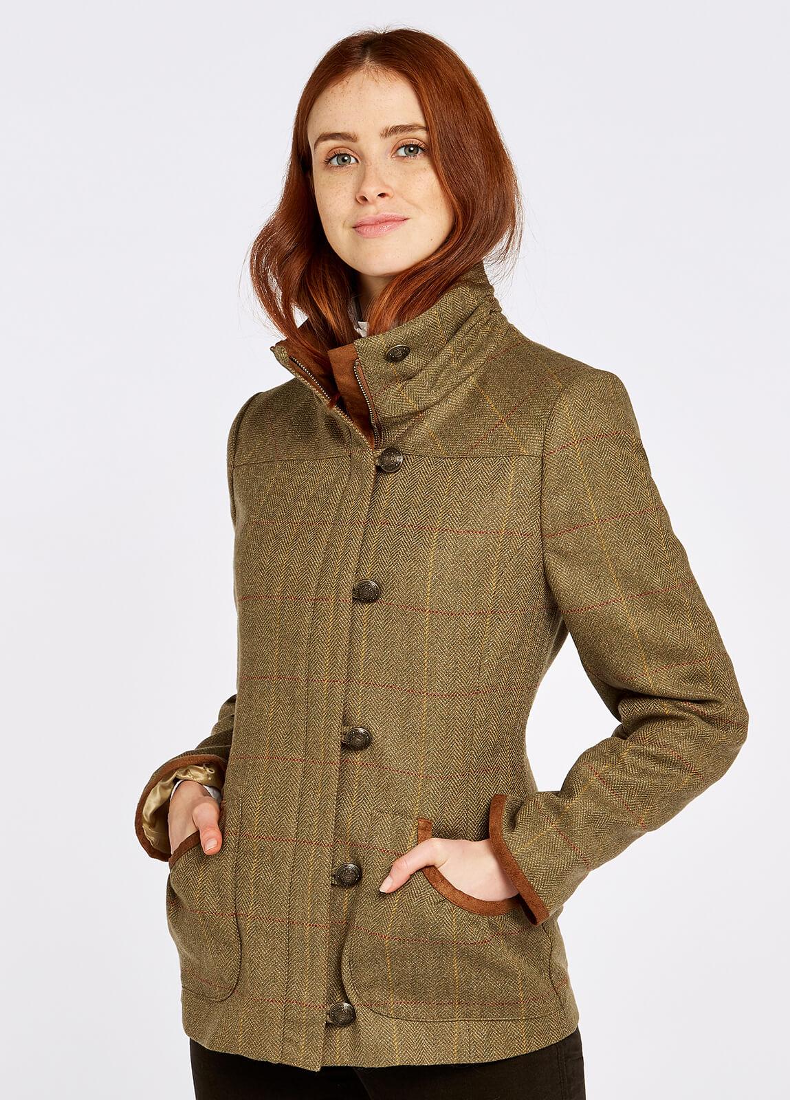 Bracken Tweed Coat - Elm