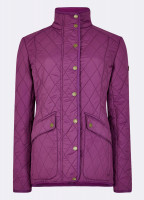 Bettystown Quilted Coat - Berry