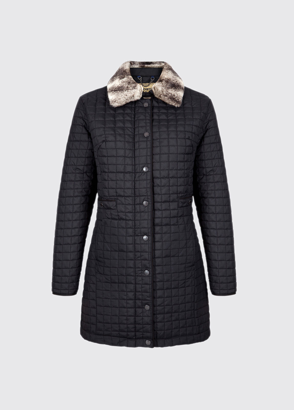 Abbey Women's Quilted Jacket - Black