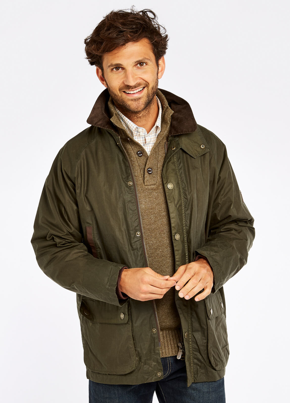 Dubarry_Mountbellew_Wax_Jacket_Pine_on_model
