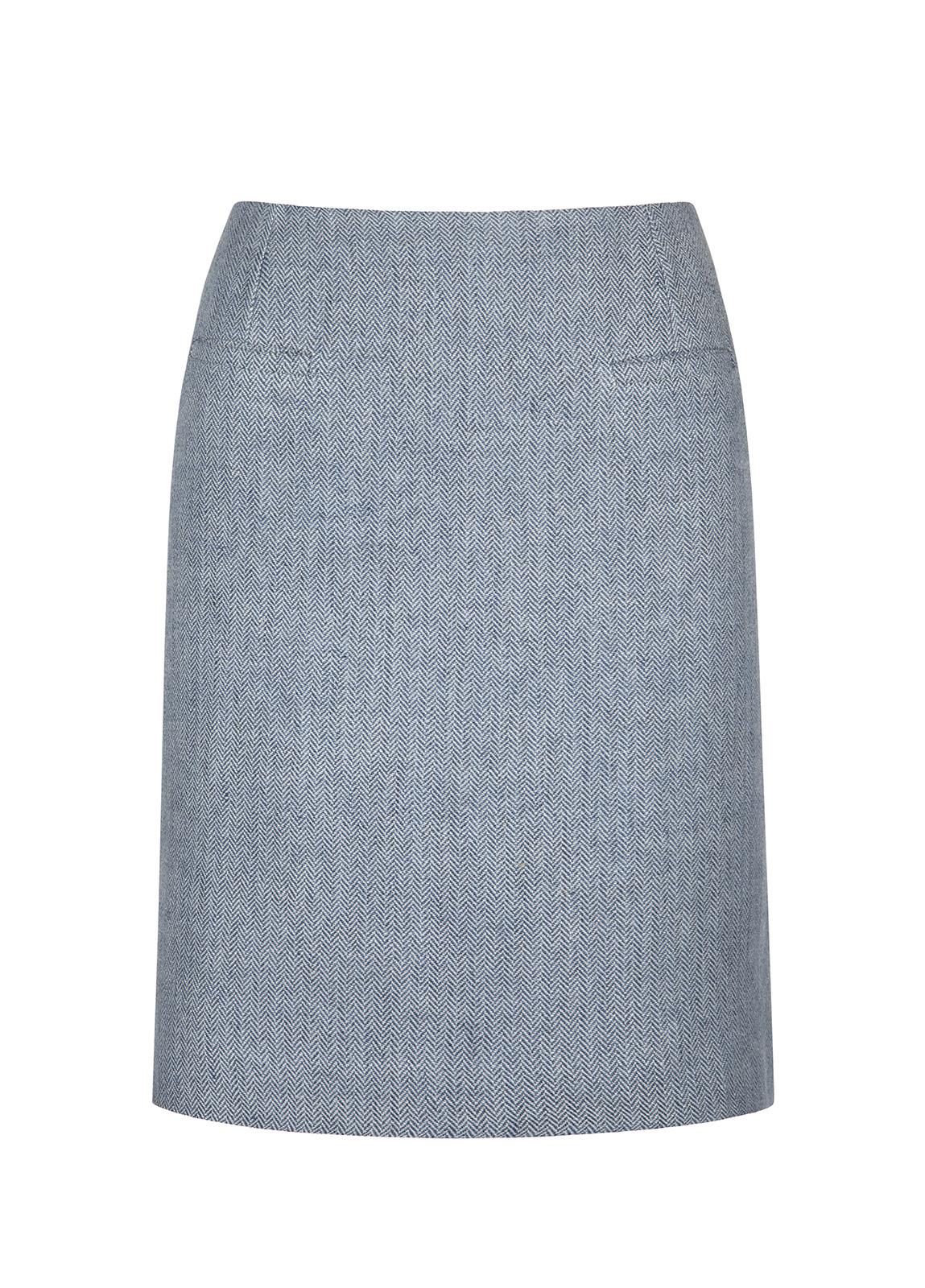 Dubarry_ Sunflower Linen Ladies Skirt - Blue_Image_2