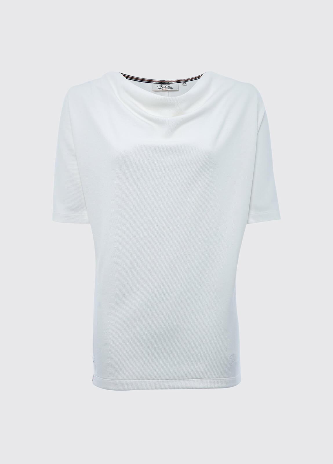 Fermoyle cowl neck top - White
