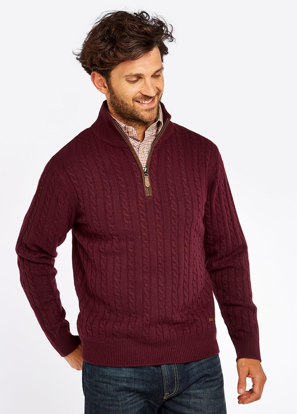 Thompson Knitted Sweater - Raisin