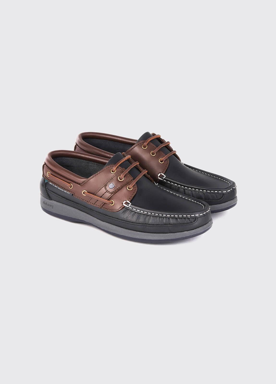 Atlantic Deck Shoe - Navy/Mahogany