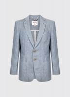 Glen Men's Linen Blazer - Blue