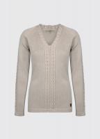 Carolan Women's V-neck Knitted Sweater - Sand