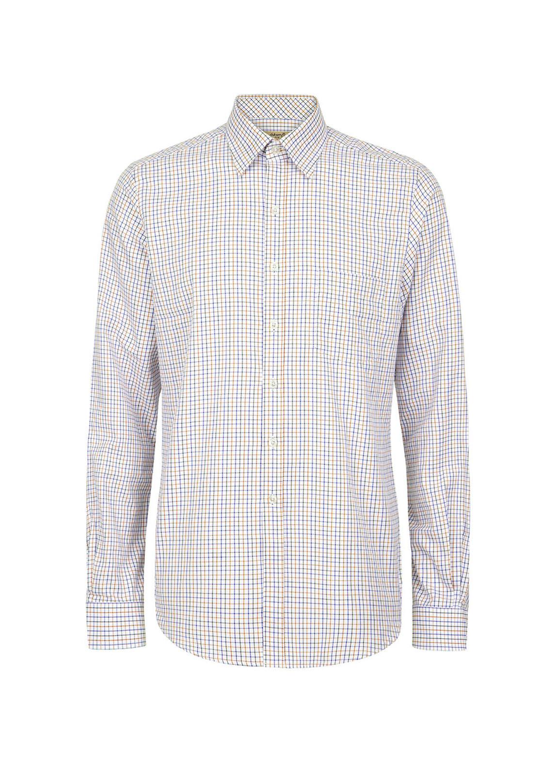 Dubarry_ Slane Men's Cotton Button Up Shirt - Brown Multi_Image_2