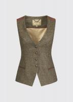 Daisy Fitted Tweed Waistcoat - Heath