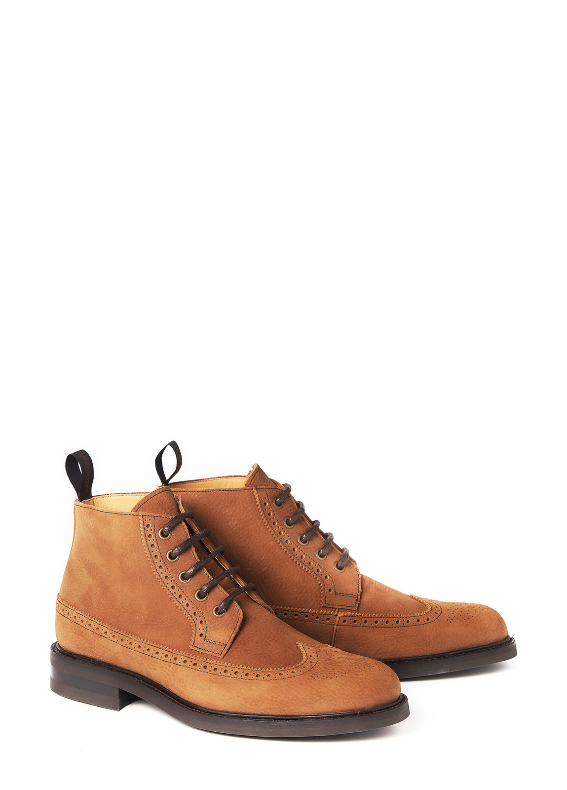 Down Goodyear Brogue Boot - Brown