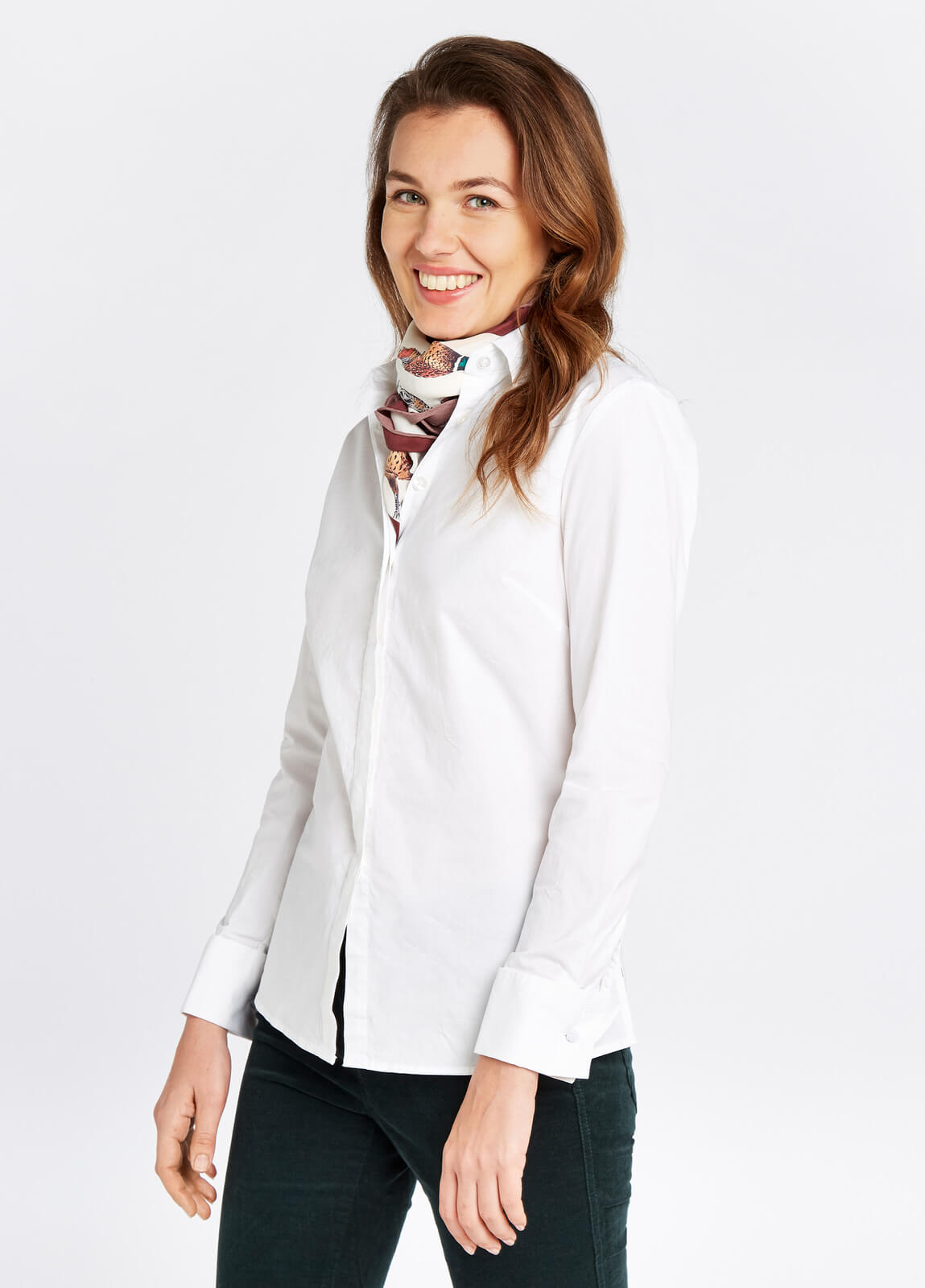 Dubarry_Daffodil_Shirt_White_on_model