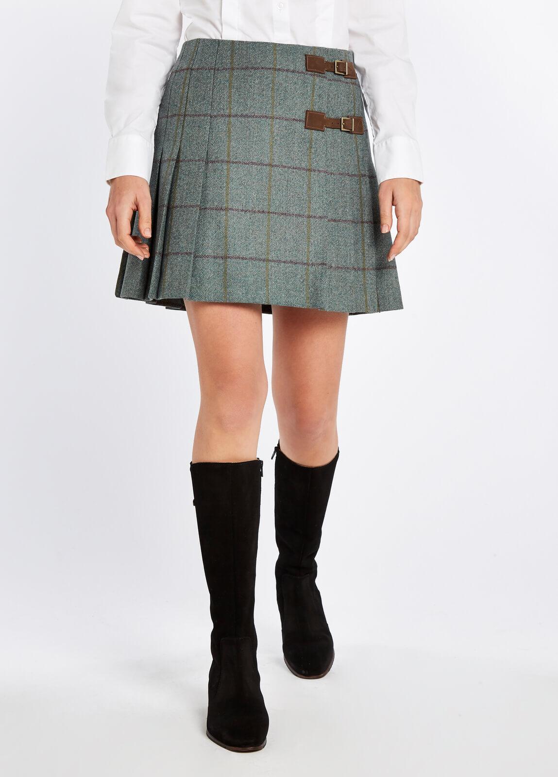 Dubarry_Blossom_Tweed_Skirt_Sorrel_on_model