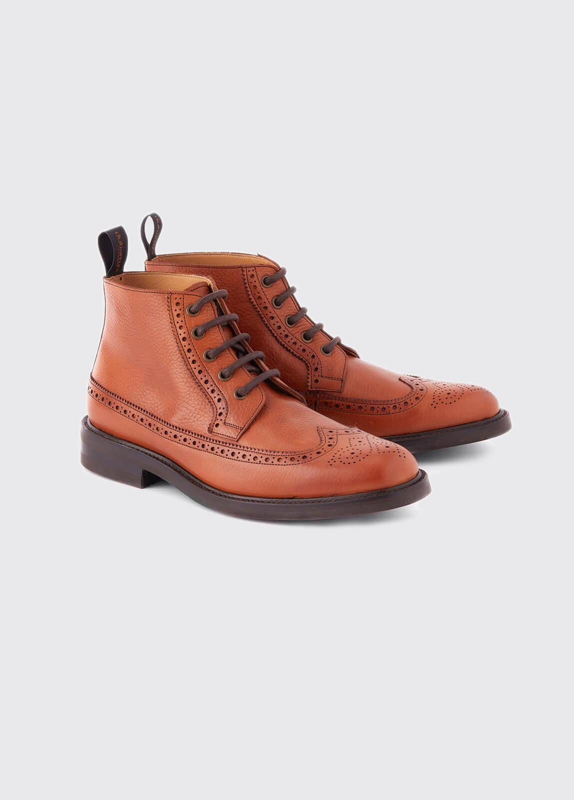 Down Goodyear Brogue Boot - Tan