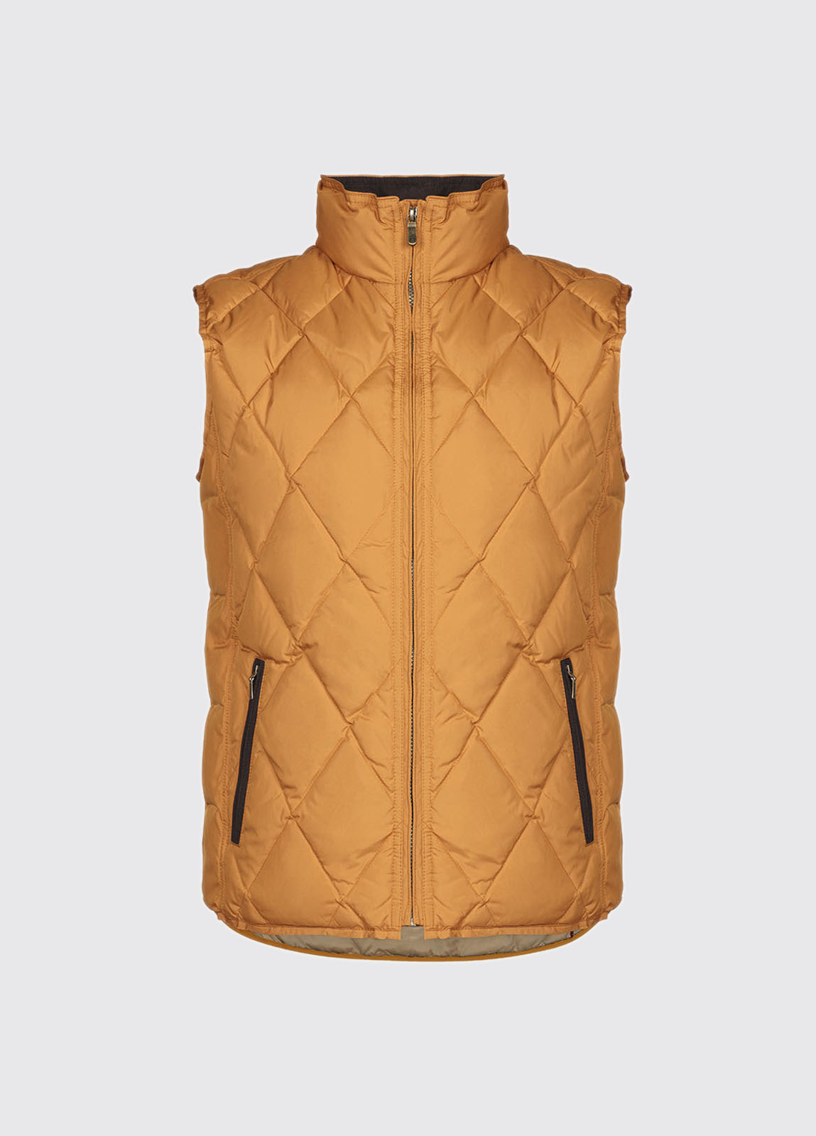 Mulranny Men's Quilted Gilet - Mustard