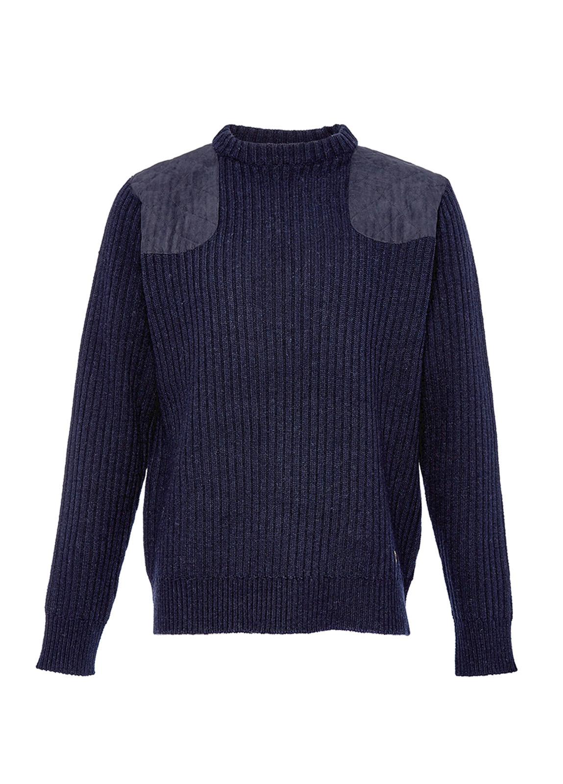 Macken Ribbed Sweater - Navy