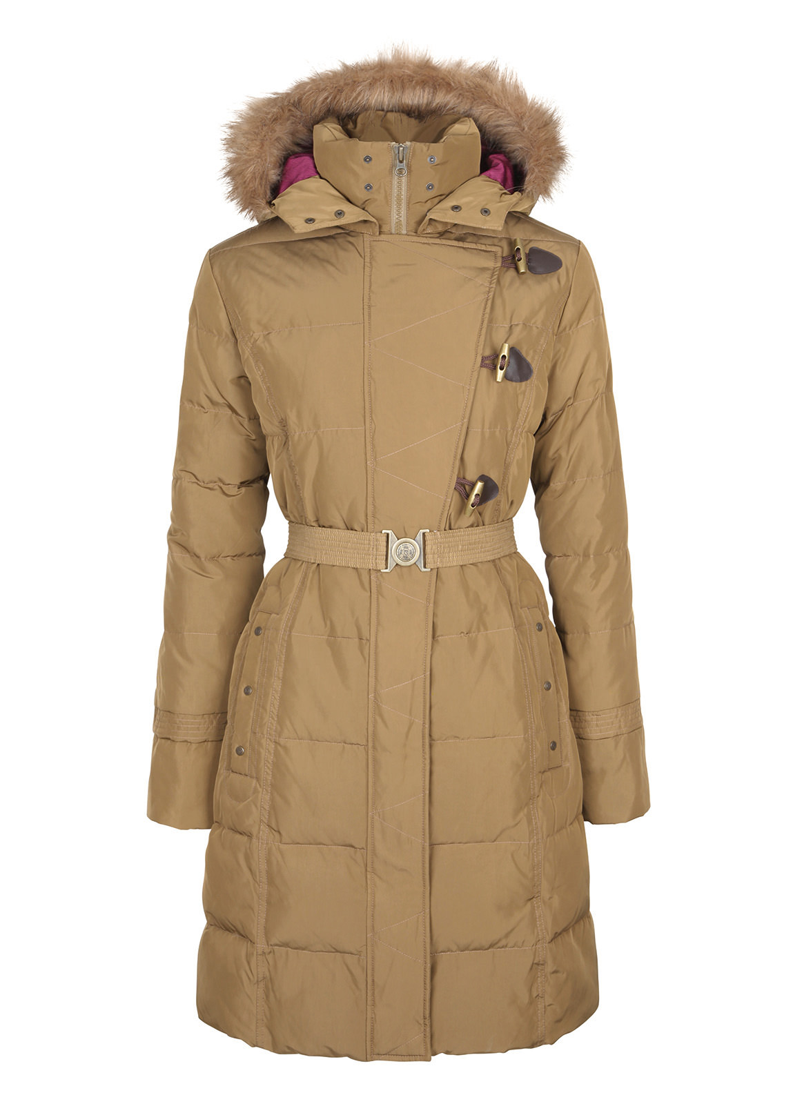 Dubarry_ Inverin Women's Thigh-Length Hooded Coat - Woodrose_Image_2