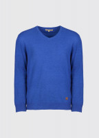 Brennan Men's Knitted Sweater - Cobalt