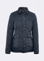 Heaney Quilted Coat - Navy