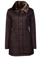 Abbey Women's Quilted Jacket - Mocha